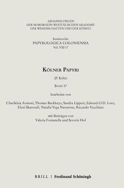 Kölner Papyri von Armoni,  Charikleia, Hammerstaedt,  Jürgen, Skarsouli,  Eleni