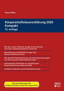 Körperschaftsteuererklärung 2020 Kompakt von Perbey,  Uwe