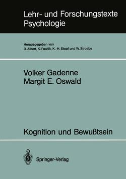 Kognition und Bewußtsein von Gadenne,  Volker, Oswald,  Margit E.