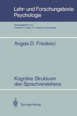 Kognitive Strukturen des Sprachverstehens von Friederici,  Angela D