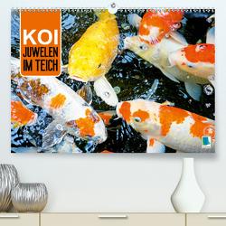 Koi: Juwelen im Teich (Premium, hochwertiger DIN A2 Wandkalender 2020, Kunstdruck in Hochglanz) von CALVENDO