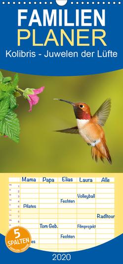 Kolibris – Juwelen der Lüfte – Familienplaner hoch (Wandkalender 2020 , 21 cm x 45 cm, hoch) von birdimagency,  BIA