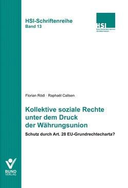 Kollektive soziale Rechte unter dem Druck der Währungsunion von Callsen,  Raphaël, Rödl,  Florian