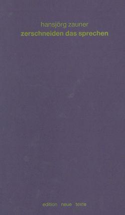 Kolloquium Neue Texte von Bäcker,  Heimrad, Cobbing, Finlay, Furnival