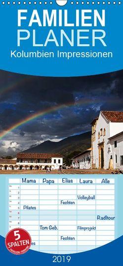 Kolumbien Impressionen – Familienplaner hoch (Wandkalender 2019 , 21 cm x 45 cm, hoch) von Boettcher,  Ute, Piegeler,  Jeannette, www.kolumbien-impressionen.de