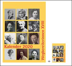 "Kombi aus ""Kalender 2020 Wegbereiterinnen XVIII"" (ISBN 9783945959381) und ""Postkartenset Wegbereiterinnen XVIII"" (ISBN 9783945959398) von Notz,  Gisela"