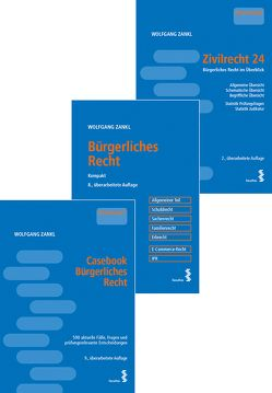 Kombipaket Casebook Bürgerliches Recht, Bürgerliches Recht – Kompakt und Zivilrecht 24 von Zankl,  Wolfgang