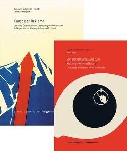 """Kombipaket """"Kunst der Reklame"""" und """"Österreichisches Grafikdesign"""" von Design Austria, Kern,  Anita, Maryska,  Christian"""
