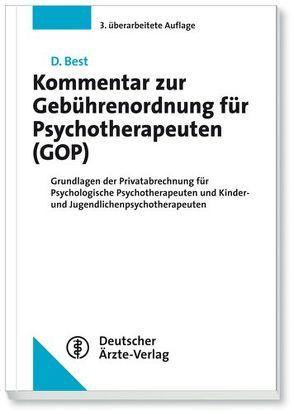 Kommentar zur Gebührenordnung für Psychotherapeuten (GOP) von Best,  Dieter