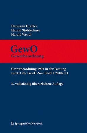 Kommentar zur GewO von Grabler,  Hermann, Stolzlechner,  Harald, Wendl,  Harald