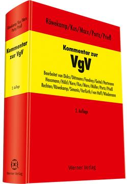 Kommentar zur VgV von Kus,  Alexander, Portz, Portz,  Norbert, Prieß,  Hans-Joachim, Röwekamp,  Hendrik