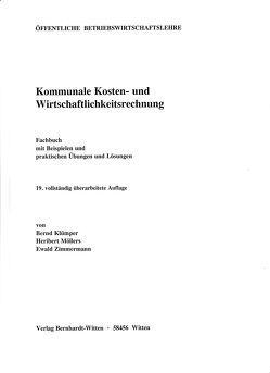 Kommunale Kosten- und Wirtschaftlichkeitsrechnung von Klümper,  Bernd, Möllers,  Heribert, Zimmermann,  Ewald