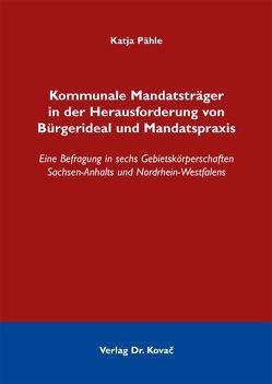 Kommunale Mandatsträger in der Herausforderung von Bürgerideal und Mandatspraxis von Pähle,  Katja