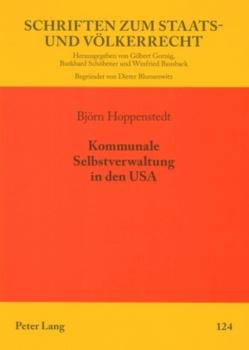 Kommunale Selbstverwaltung in den USA von Hoppenstedt,  Björn