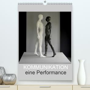 KOMMUNIKATION eine Performance (Premium, hochwertiger DIN A2 Wandkalender 2021, Kunstdruck in Hochglanz) von fru.ch
