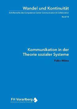 Kommunikation in der Theorie sozialer Systeme von Wilms,  Falko