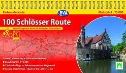 Kompakt-Spiralo BVA 100 Schlösser Route Radwanderkarte 1:75.000, wetter- und reißfest, GPS-Tracks Download