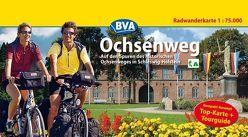 Kompakt-Spiralo BVA Ochsenweg Auf den Spuren des historischen Ochsenweges in Schleswig-Holstein Radwanderkarte 1:75.000