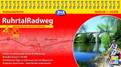 Kompakt-Spiralo BVA RuhrtalRadweg Von der Quelle bis zur Mündung Radwanderkarte 1:50.000