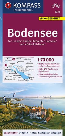KOMPASS Fahrradkarte Bodensee 1:70.000, FK 3333 von KOMPASS-Karten GmbH