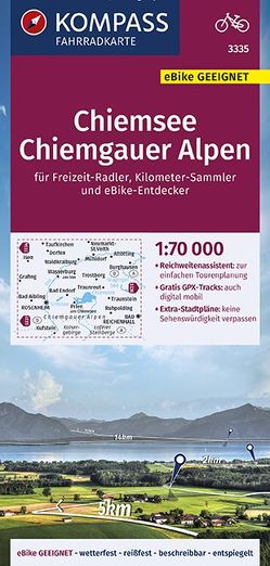 KOMPASS Fahrradkarte Chiemsee, Chiemgauer Alpen 1:70.000, FK 3335 von KOMPASS-Karten GmbH