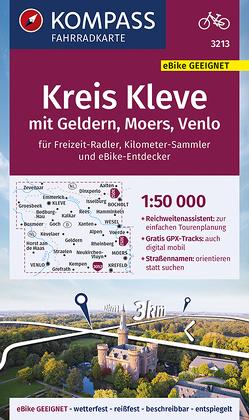 KOMPASS Fahrradkarte Kreis Kleve mit Geldern, Moers, Venlo 1:50.000, FK 3213 von KOMPASS-Karten GmbH