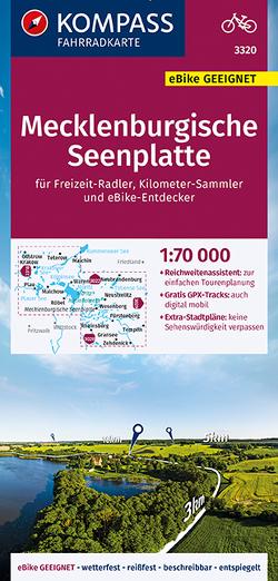 KOMPASS Fahrradkarte Mecklenburgische Seenplatte 1:70.000, FK 3320 von KOMPASS-Karten GmbH