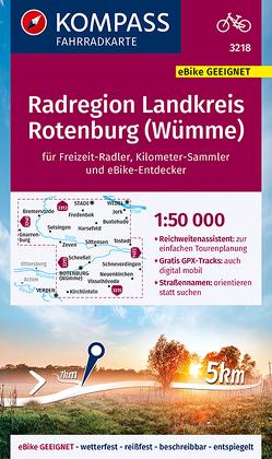 KOMPASS Fahrradkarte Radregion Landkreis Rotenburg (Wümme) 1:50.000, FK 3218 von KOMPASS-Karten GmbH