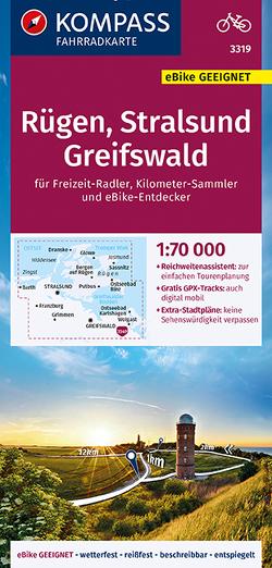 KOMPASS Fahrradkarte Rügen, Stralsund, Greifswald 1:70.000, FK 3319 von KOMPASS-Karten GmbH