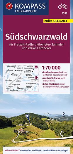 KOMPASS Fahrradkarte Südschwarzwald 1:70.000, FK 3332 von KOMPASS-Karten GmbH