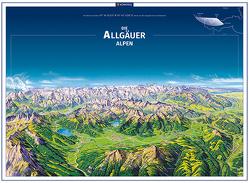 KOMPASS Panorama Die Allgäuer Alpen, Poster von KOMPASS-Karten GmbH