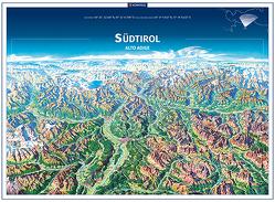 KOMPASS Panorama Südtirol, Alto Adige, Poster von KOMPASS-Karten GmbH