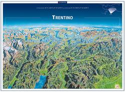 KOMPASS Panorama Trentino, Trento, Poster von KOMPASS-Karten GmbH