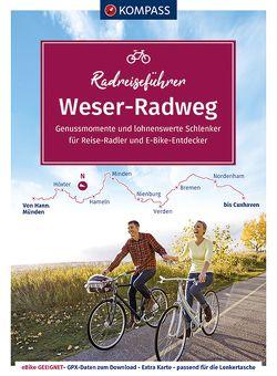 KOMPASS RadReiseFührer Erlebnis Weserradweg von Enke,  Ralf