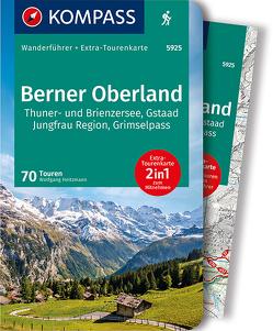 KOMPASS Wanderführer Berner Oberland von Heitzmann,  Wolfgang