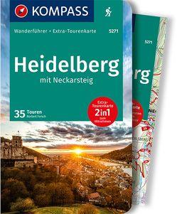 KOMPASS Wanderführer Heidelberg mit Neckarsteig von Forsch,  Norbert
