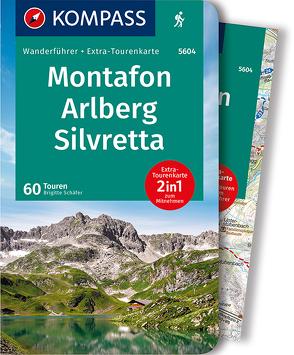 KOMPASS Wanderführer Montafon, Arlberg, Silvretta von Schaefer,  Brigitte