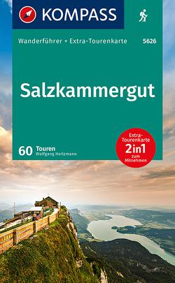 KOMPASS Wanderführer Salzkammergut von Heitzmann,  Wolfgang