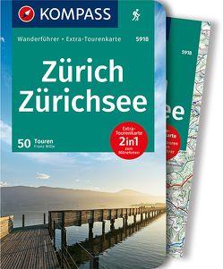 KOMPASS Wanderführer Zürich, Zürichsee von Wille,  Franz