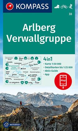 KOMPASS Wanderkarte Arlberg, Verwallgruppe von KOMPASS-Karten GmbH