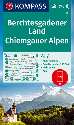 KOMPASS Wanderkarte Berchtesgadener Land, Chiemgauer Alpen von KOMPASS-Karten GmbH