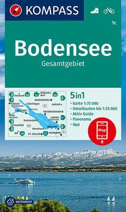 KOMPASS Wanderkarte Bodensee Gesamtgebiet von KOMPASS-Karten GmbH
