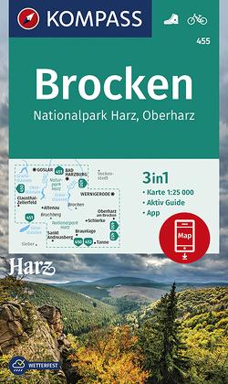 KOMPASS Wanderkarte Brocken, Nationalpark Harz, Oberharz 1:25T von KOMPASS-Karten GmbH