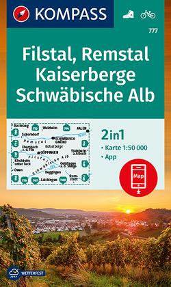 KOMPASS Wanderkarte Filstal, Remstal, Kaiserberge, Schwäbische Alb von KOMPASS-Karten GmbH