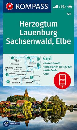 KOMPASS Wanderkarte Herzogtum Lauenburg, Sachsenwald, Elbe von KOMPASS-Karten GmbH
