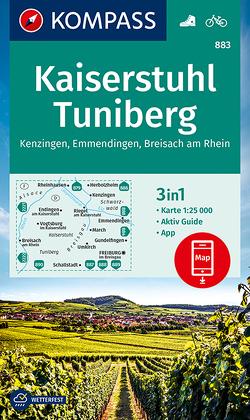 KOMPASS Wanderkarte Kaiserstuhl, Tuniberg, Kenzingen, Emmendingen, Breisach am Rhein von KOMPASS-Karten GmbH