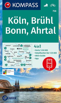 KOMPASS Wanderkarte Köln, Brühl, Bonn, Ahrtal von KOMPASS-Karten GmbH