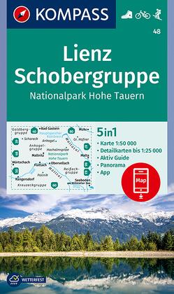 KOMPASS Wanderkarte Lienz, Schobergruppe, Nationalpark Hohe Tauern von KOMPASS-Karten GmbH