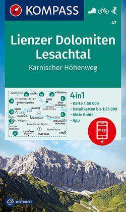 KOMPASS Wanderkarte Lienzer Dolomiten, Lesachtal, Karnischer Höhenweg von KOMPASS-Karten GmbH