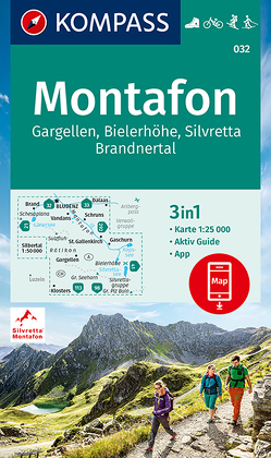 KOMPASS Wanderkarte Montafon, Gargellen, Bielerhöhe, Silvretta von KOMPASS-Karten GmbH